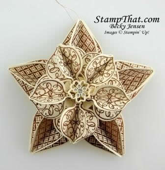 Handmade Christmas Ornament - Stampin' Up!