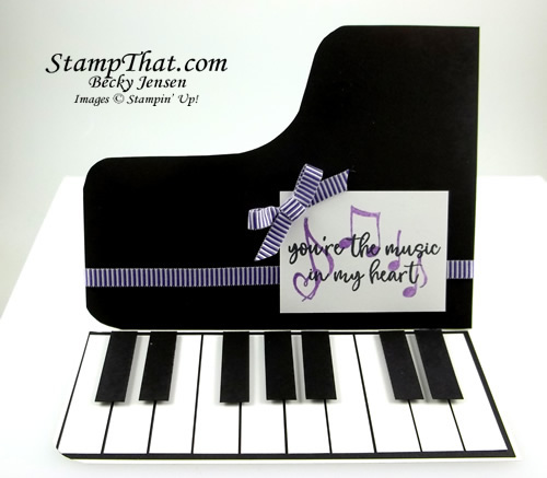Music From the Heart piano card
