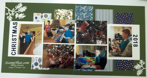Two Page Christmas Layout
