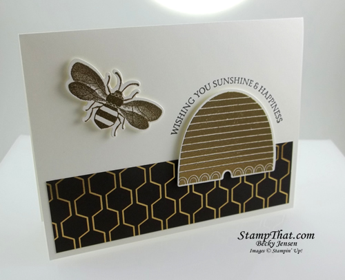 Stampin' Up! Golden Honey DSP