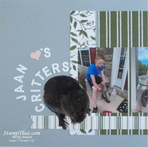 Critters scrapbook layout