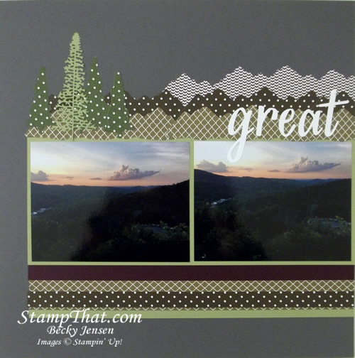 Stampin' Up! Mountain Air