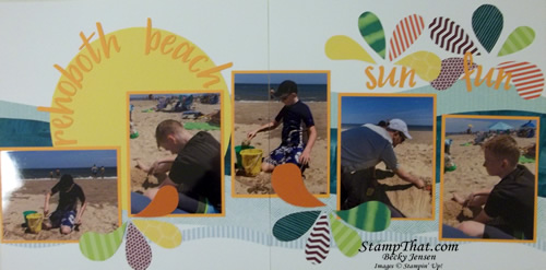 Sun Fun scrapbooking