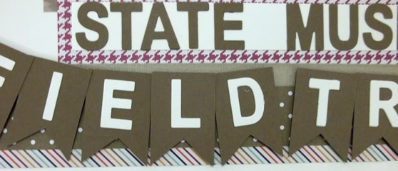 State Field Trip Scrapbook Layout