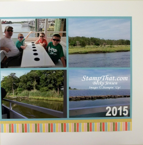Boat Ride Scrapbook page
