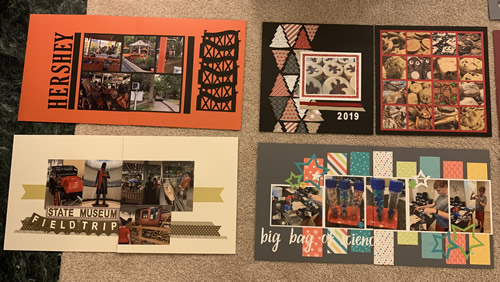 Stampin' Up Scrapbook pages