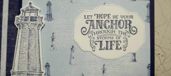 Sailing Home Fancy Fold Card