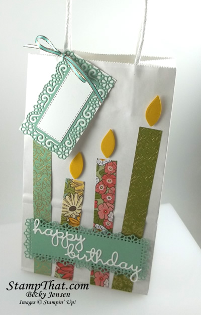 Stampin' Up! Decorated Birthday Gift Bag