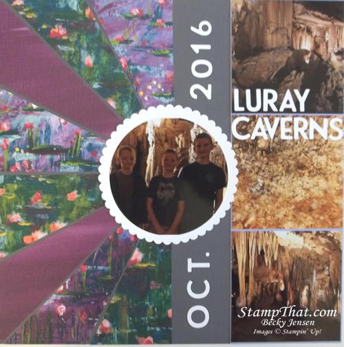 Luray Caverns scrapbook page
