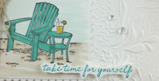 Seaside View Above & Beyond Card