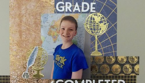 6th Grade Completed Scrapbook Layout