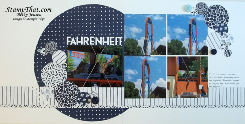 Fahrenehit Roller Coaster Scrapbook Page