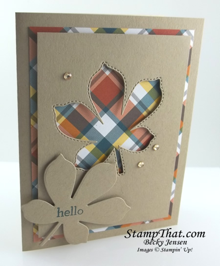 Stampin' Up! Stitched Leaves