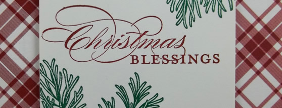 Christmas Blessings Handmade Card