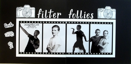 Filter Follies scrampbook pages