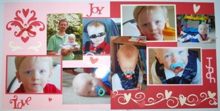 heart to heart scrapbook page