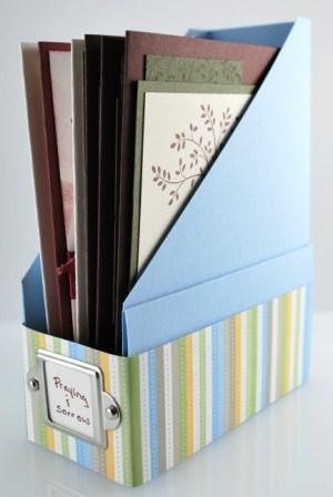 Handmade card storage