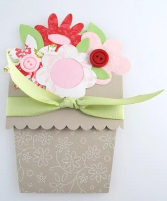 Flower Pot Note Card