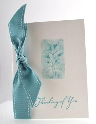 One layer stamped card