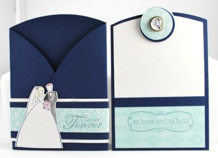 Handstamped wedding card
