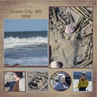 Ocean City Scrapbook Page