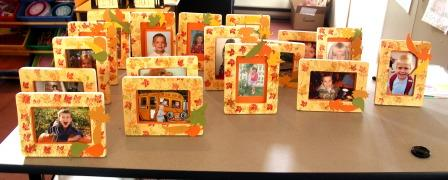 Stamping a wooden picture frame