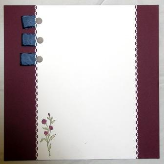Stampin' Up! Scrapbook Layout