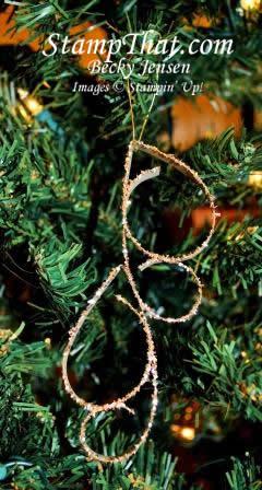 Handmade Swirly Christmas Ornament
