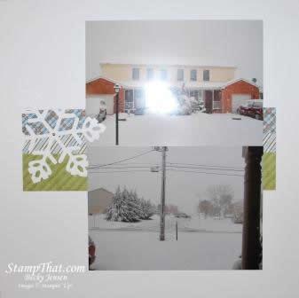 Snotober Snowy Scrapbook Page