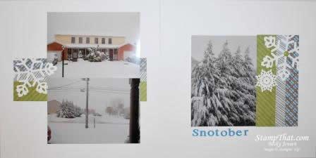 Scrapbooking Snow in October