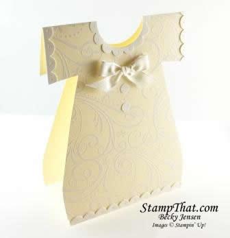 Handmade Baby Dress Card