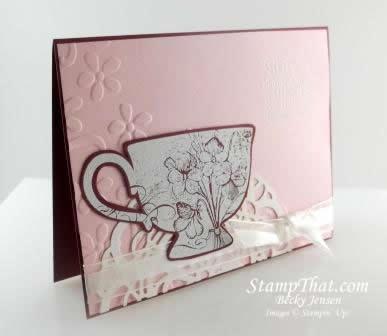 Tea Shoppe Bravo Burgundy Card