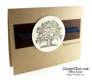 Simple Lovely as a Tree Card