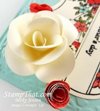 Handmade Card with 3D Flowers
