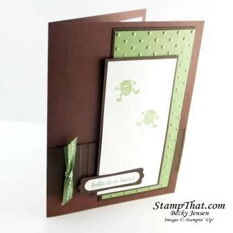 Moving Forward Frog Card