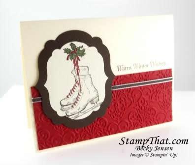 Stampin' Up! Winter Memories Christmas Card