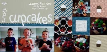 Crazy 4 Cupcakes Scrapbook Page