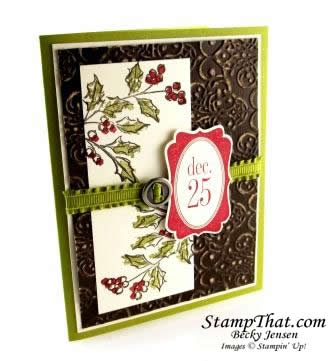 Watercolor Winter Holly Card