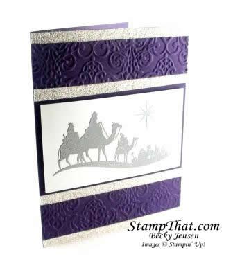 Silver & Elegant Eggplant Christmas Card