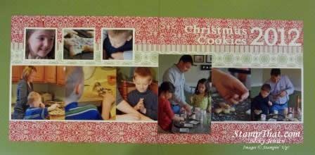 Christmas Cookies 2012 Scrapbook Layout