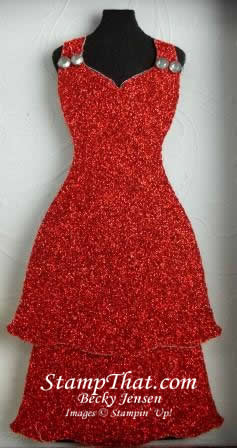 Red Glimmer Paper Dress