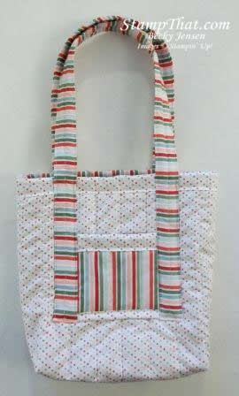 Stampin' Up! Candy Cane Fabric Bag
