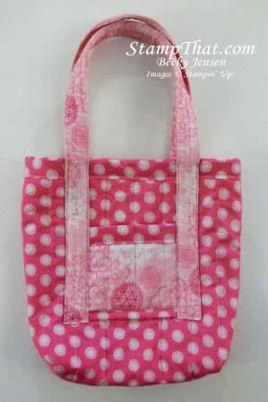 Close Up View of Available Stampin' Up! Fabric Bags