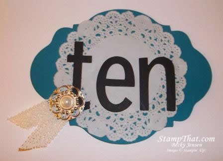 Stampin' Up! Oval Accent Die