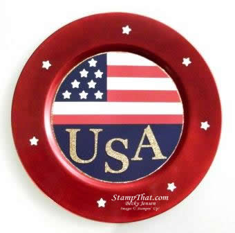 Patriotic Charger Decor