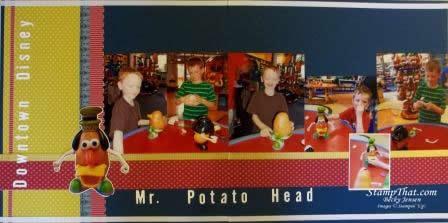 Mr. Potato Head Scrapbook Page