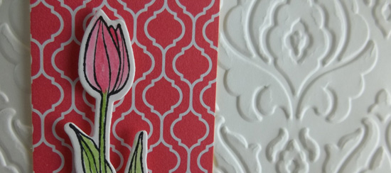 Backyard Basics Tulip Card