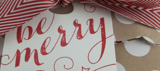 Be Merry Tag & Bag