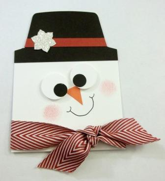 Snowman Gift Card Holder Tutorial