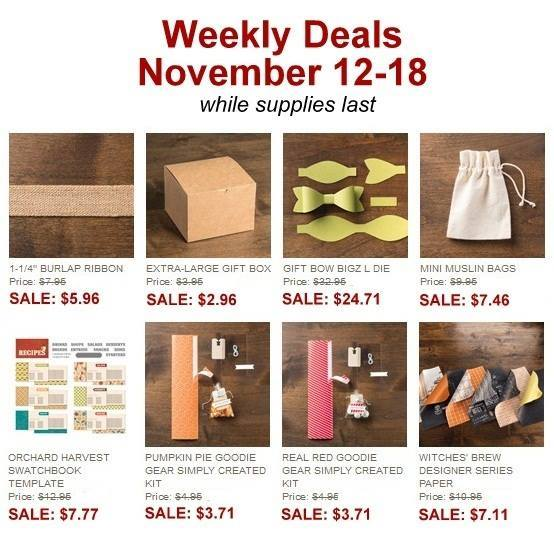Stampin' Up! Weekly Deal